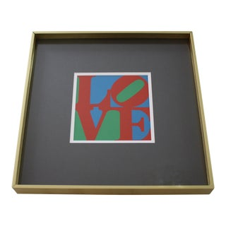 Framed Robert Indiana LOVE Screenprint MOMA Pop Art 1960s Christmas Card