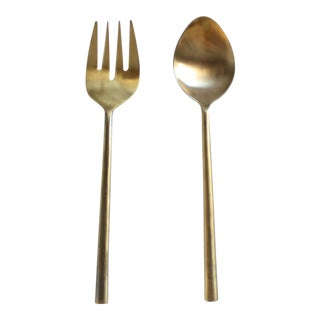 Brass Serving Utensils - A Pair
