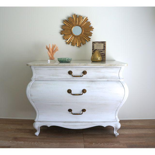 White Marble Top Commode by Grosfeld House - Image 4 of 9
