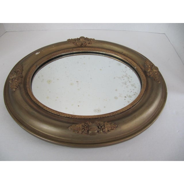 Vintage Fruit & Flower Accent Gold Mirror - Image 5 of 10