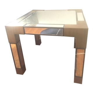 Currey and Company Mirrored Leighton Accent Side Table