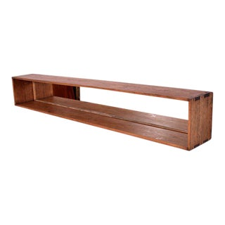 Mexican Modernist Wood Solid Wood Shelf with Mirror