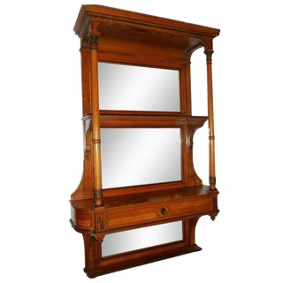 Antique Signed Portois & Fix Wien Hanging Bookshelf Whatnot Austria