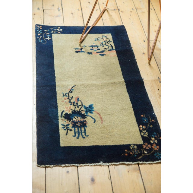 """Vintage Peking Rug Runner - 2' x 3'11"""" - Image 4 of 8"""