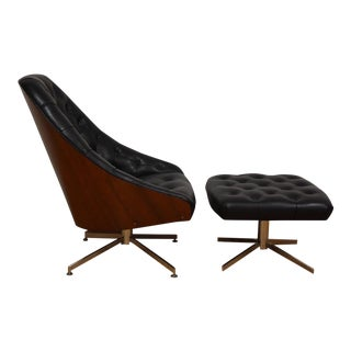 Milo Baughman for Thayer Coggin Lounge Chair & Ottoman