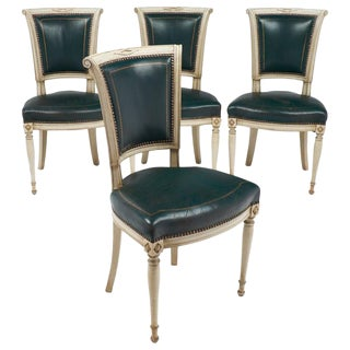 Antique French Directoire Style Side Chairs- Set of 4