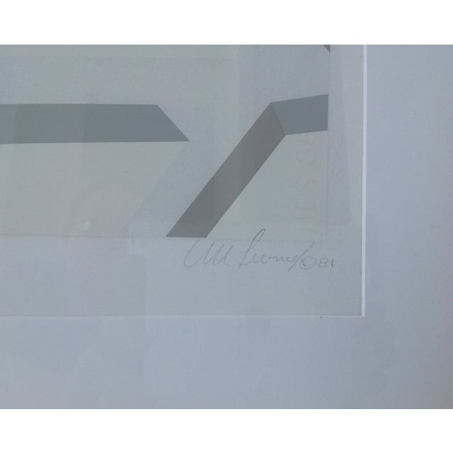 Image of Original Signed Abstract Geometric Lithograph