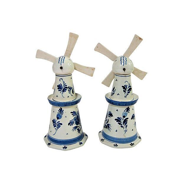 Image of Delft Windmill Decanters - A Pair