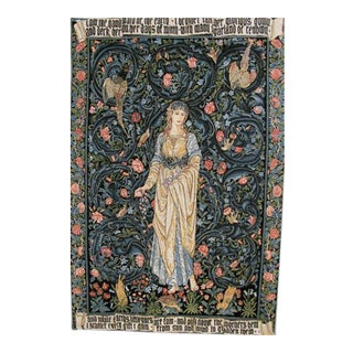 French Gothic William Morris Style Tapestry Flora