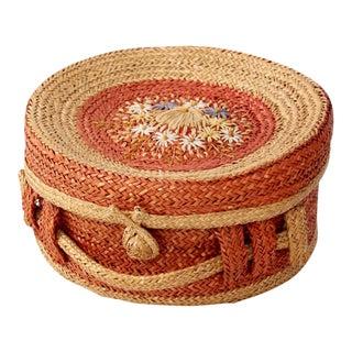 1950s Vintage Italian Lidded Basket