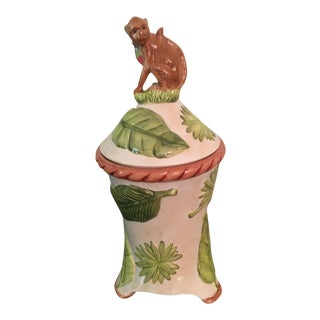 Ceramic Monkey Themed Cookie Jar