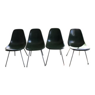 Eames Green Fiberglass Chairs - Set of 4