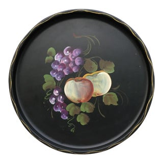 Hand Painted Fruit Tole Tray