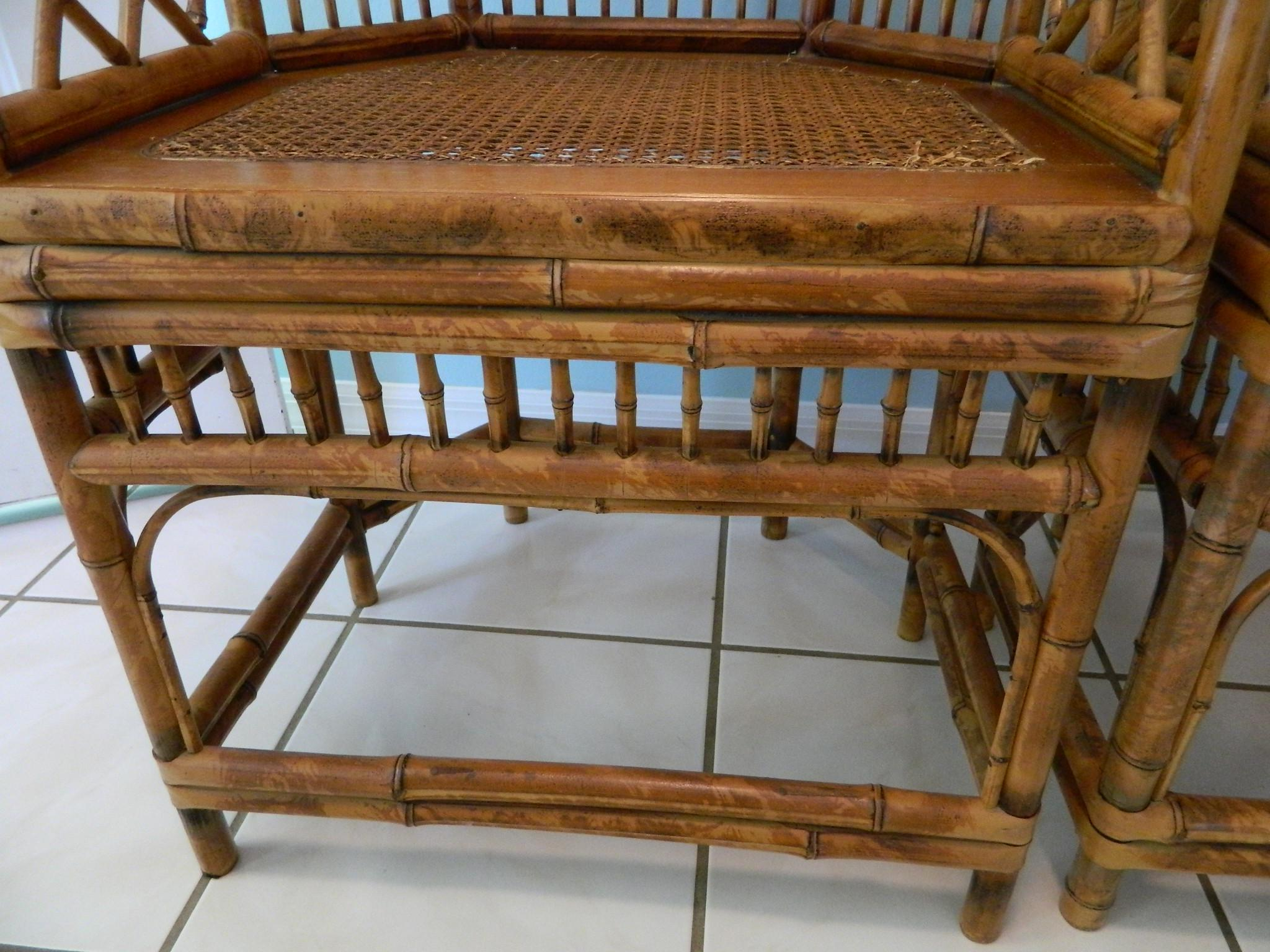 Vintage Brighton Pavilion Style Bamboo Chairs   A Pair   Image 6 Of 11