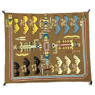 Navajo Sand Painting Pictorial Rug, circa 1980