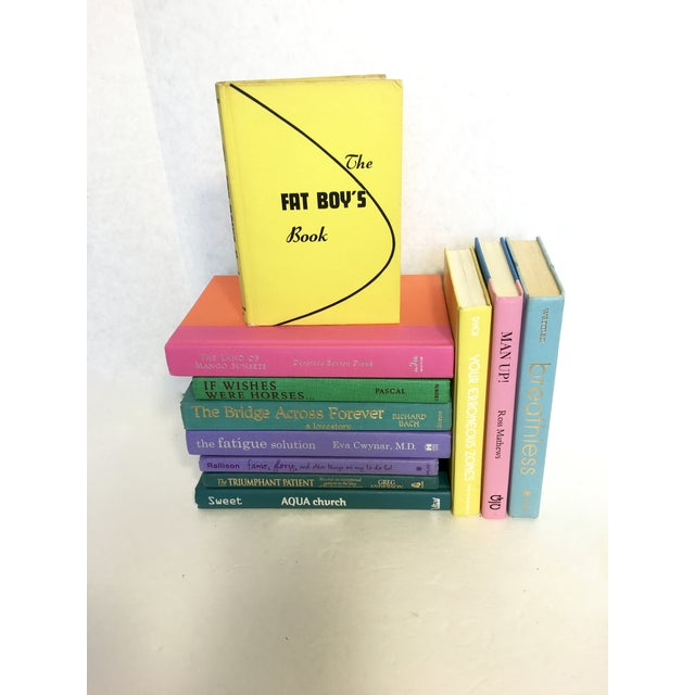 Image of Brightly Colored Decorative Books - Set of 11