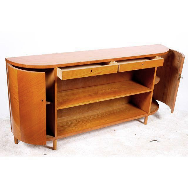 Image of Danish Mid-Century Birch Sideboard