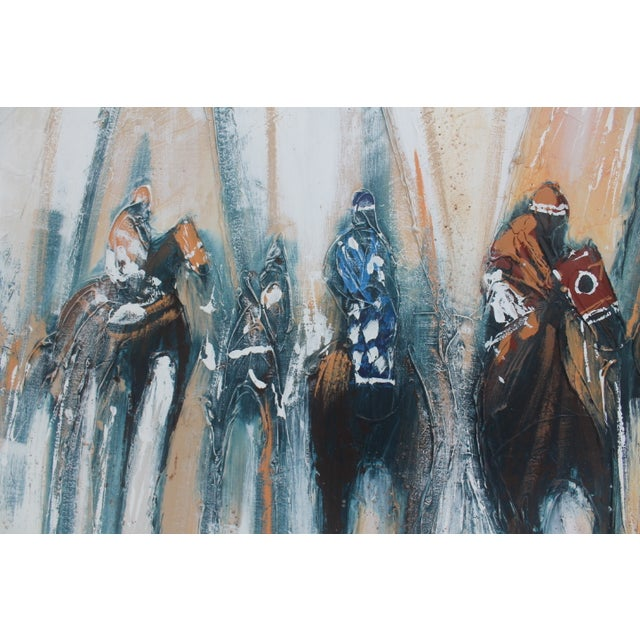 Abstract Horse Race Signed Painting By Ferrante Chairish
