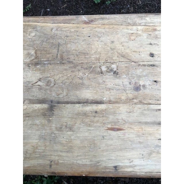 Antique Farmhouse Dining Table - Image 9 of 10