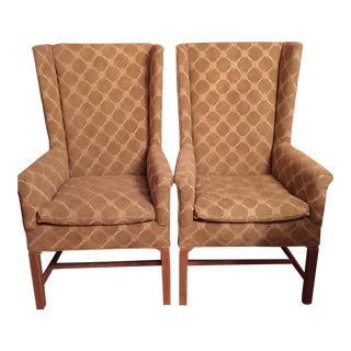 Vintage Hickory Wing Back Chairs - a Pair