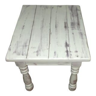 Beach Cottage Distressed End Table