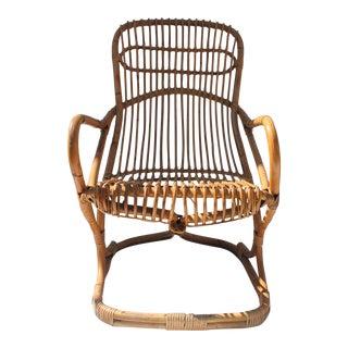 Vintage Franco Albini Style Rattan Chair