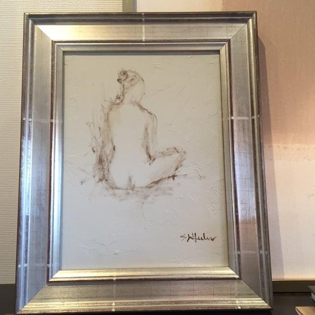 Stephanie Wheeler Framed Nude Figure Painting - Image 2 of 4