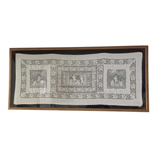 Vintage Gold Framed Antique Irish Lace