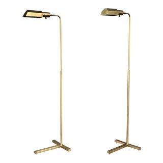Vintage Brass Floor Lamps - A Pair