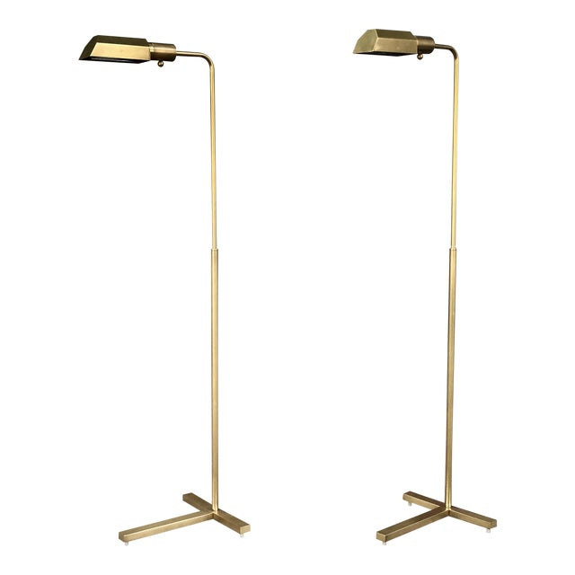 Vintage Brass Floor Lamps - A Pair - Image 1 of 7