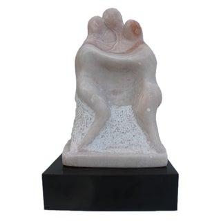 Vintage Carved Marble Figurative Sculpture