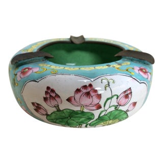 Canton Enamel Floral Ashtray