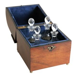 Antique Georgian Cased Liquor Decanter Cordial Set