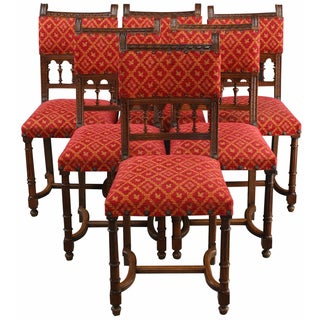 French Renaissance-Style Dining Chairs - Set of 6