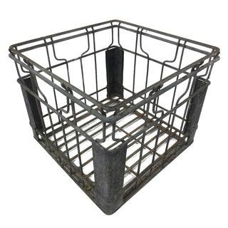 Industrial Square Metal Crate