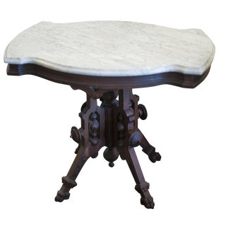 Turtle Side Table with Marble Top