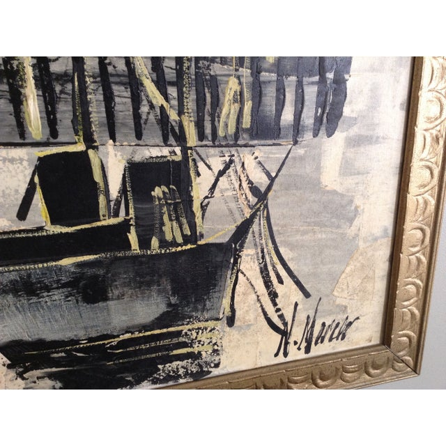 Mid-Century Asian Ship Painting - Image 4 of 6