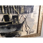 Image of Mid-Century Asian Ship Painting