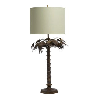 A Single Palm Tree Table Lamp attributed to Chapman 1960s