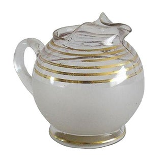 Gilded Italian Glass Pitcher