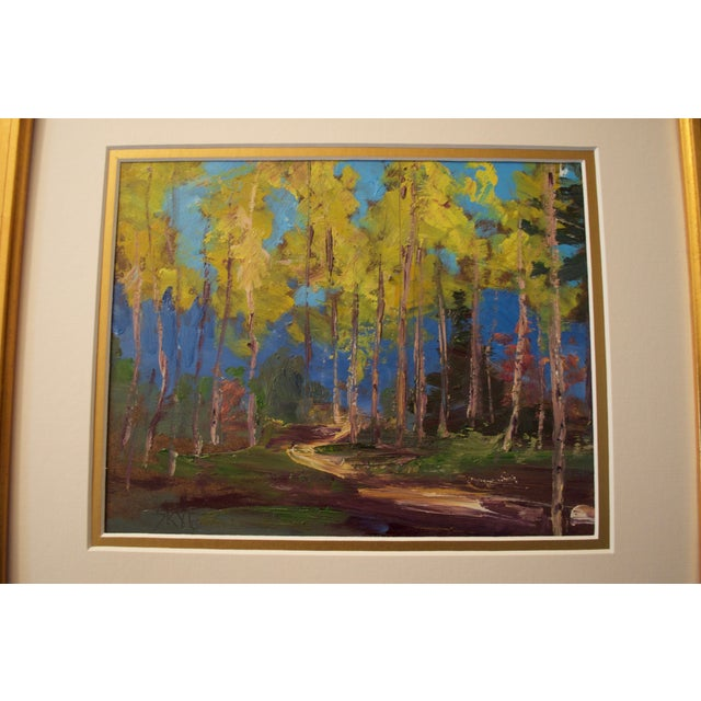 Yellow Aspen Trees Painting - Image 5 of 5