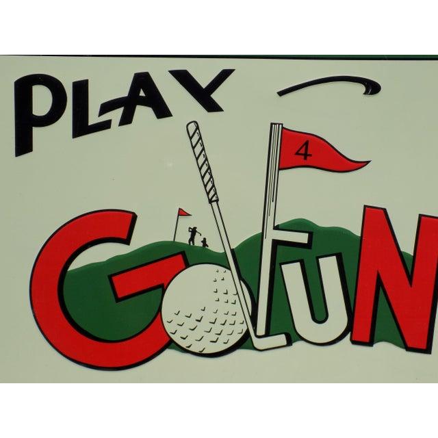 "Vintage ""Play Golfun"" Metal Sign - Image 4 of 5"