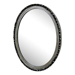 Silver Frame Elliptical Mirror