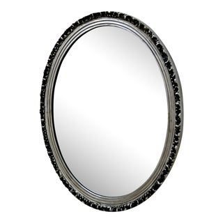 Silver Frame Elliptical Mirror
