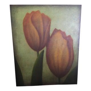 """Orange Tulips"" Oil Painting"