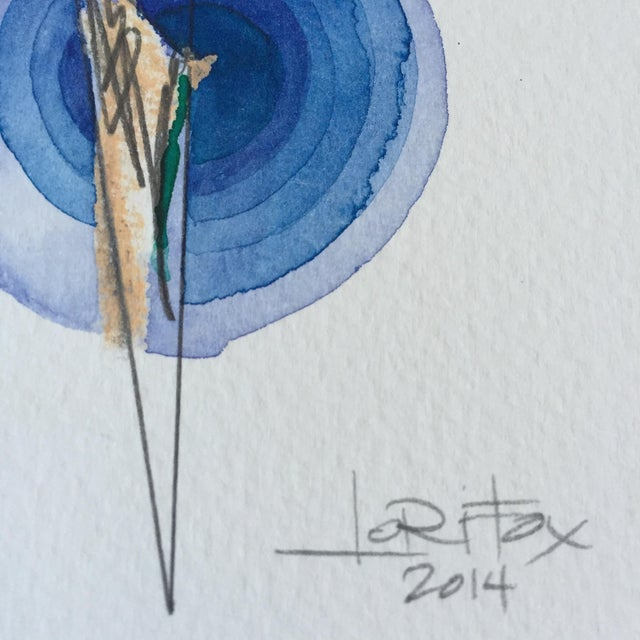 Image of Mixed Media Single Totem Painting