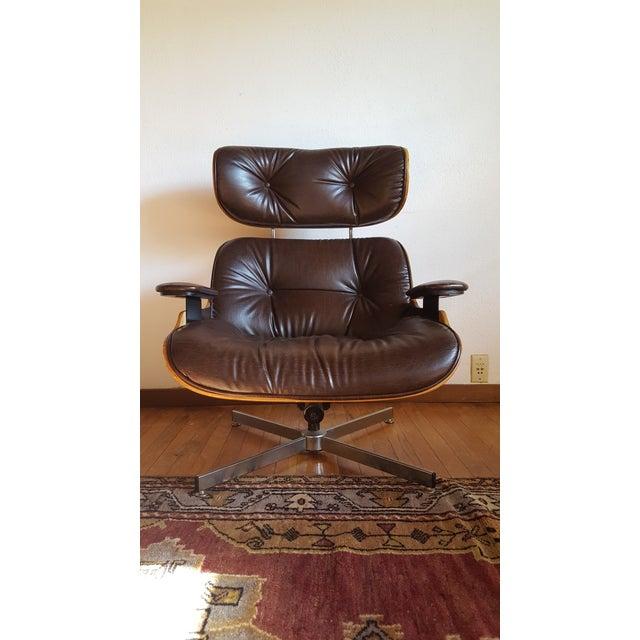 Vintage Herman Miller Eames Era Style Chocolate Selig Plycraft Lounge Chair - Image 5 of 11