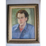 Image of Framed Painting of Young Man