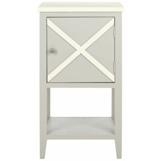 Side Table with Cabinet - Grey