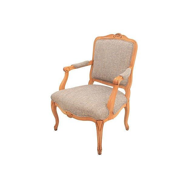 Louis XV-Style Granite Fauteuil - Image 2 of 7